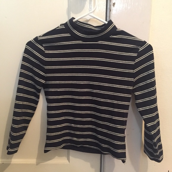47c283f982 Forever 21 Tops | Striped Mock Neck Long Sleeve | Poshmark